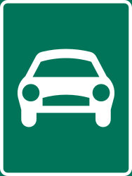 Traffic sign of Sweden: Begin of an expressway