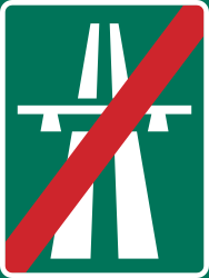 Traffic sign of Sweden: End of the motorway