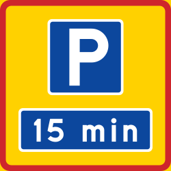 Traffic sign of Sweden: Begin of a zone with limited parking time