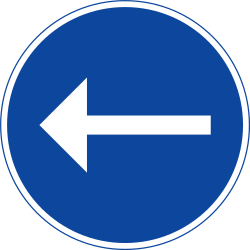 Traffic sign of Sweden: Mandatory left