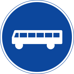Traffic sign of Sweden: Mandatory lane for buses