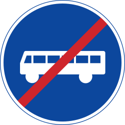 Traffic sign of Sweden: End of the lane for buses