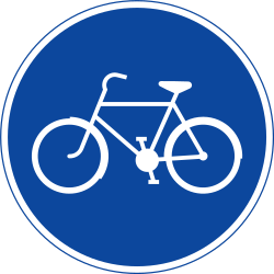 Traffic sign of Sweden: Mandatory path for cyclists