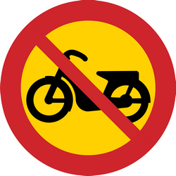 Traffic sign of Sweden: Mopeds prohibited