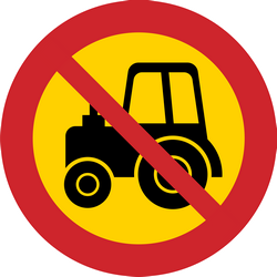 Traffic sign of Sweden: Tractors prohibited