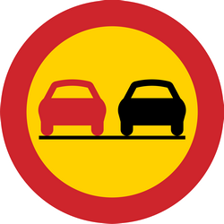 Traffic sign of Sweden: Overtaking prohibited