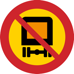 Traffic sign of Sweden: Vehicles with dangerous goods prohibited