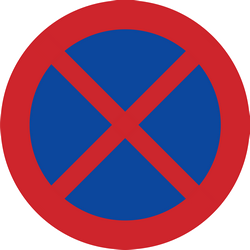 Traffic sign of Sweden: Parking and stopping prohibited