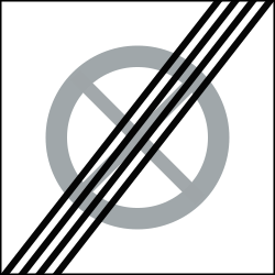 Traffic sign of Sweden: End of the zone where parking is prohibited