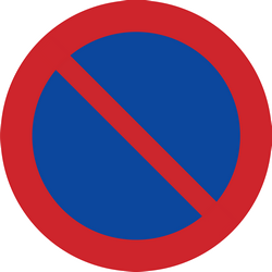 Traffic sign of Sweden: Parking prohibited