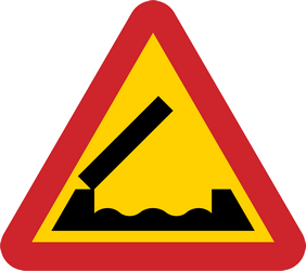 Traffic sign of Sweden: Warning for a movable bridge