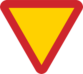 Traffic sign of Sweden: Give way to all drivers