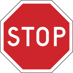 Traffic sign of Sweden: Stop and give way to all drivers