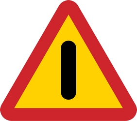 Traffic sign of Sweden: Warning for a danger with no specific traffic sign
