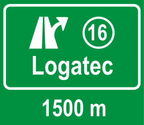 Traffic sign of Slovenia: Information about the next exit
