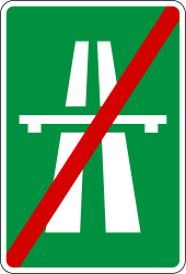 Traffic sign of Slovenia: End of the motorway