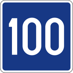 Traffic sign of Slovenia: Recommended speed