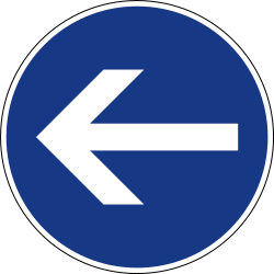 Traffic sign of Slovenia: Mandatory left