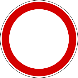Traffic sign of Slovenia: Entry prohibited