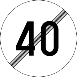 Traffic sign of Slovenia: End of the speed limit