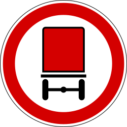 Traffic sign of Slovenia: Vehicles with dangerous goods prohibited