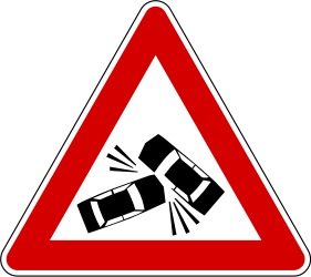 Traffic sign of Slovenia: Warning for accidents