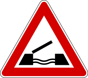 Traffic sign of Slovenia: Warning for a movable bridge