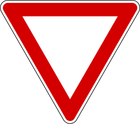 Traffic sign of Slovenia: Give way to all drivers