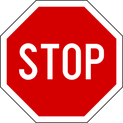 Traffic sign of Slovenia: Stop and give way to all drivers