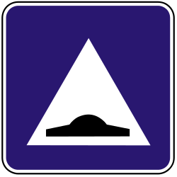 Traffic sign of Slovakia: Speed bump