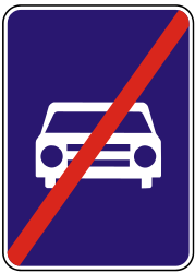 Traffic sign of Slovakia: End of the expressway