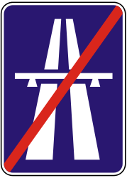 Traffic sign of Slovakia: End of the motorway