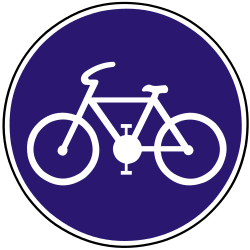 Traffic sign of Slovakia: Mandatory path for cyclists