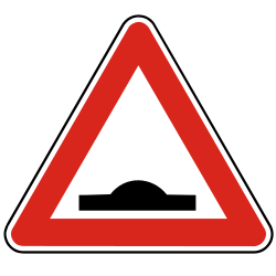 Traffic sign of Slovakia: Warning for a speed bump