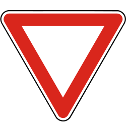 Traffic sign of Slovakia: Give way to all drivers
