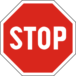 Traffic sign of Slovakia: Stop and give way to all drivers
