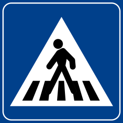 Traffic sign of Turkey: Crossing for pedestrians