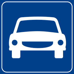 Traffic sign of Turkey: Begin of an expressway