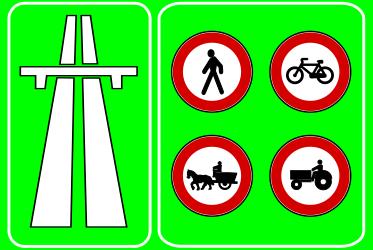 Traffic sign of Turkey: Begin of a <a href='/en/turkey/overview/motorway'>motorway</a>