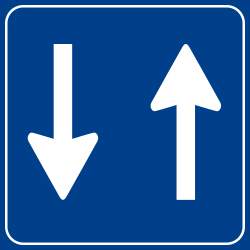 Traffic sign of Turkey: Road with two-way traffic