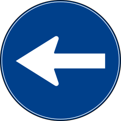 Traffic sign of Turkey: Mandatory left