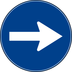 Traffic sign of Turkey: Mandatory right