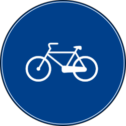 Traffic sign of Turkey: Mandatory path for cyclists