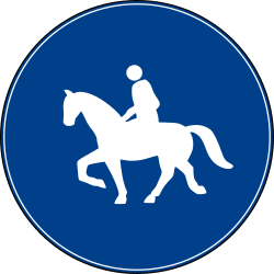 Traffic sign of Turkey: Mandatory path for equestrians
