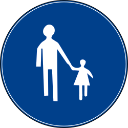 Traffic sign of Turkey: Mandatory path for pedestrians