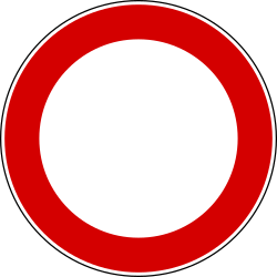 Traffic sign of Turkey: Entry prohibited