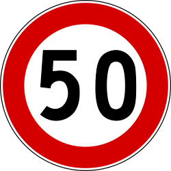 Traffic sign of Turkey: Driving faster than indicated prohibited (speed limit)