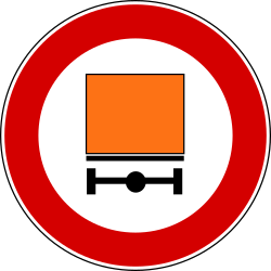 Traffic sign of Turkey: Vehicles with dangerous goods prohibited