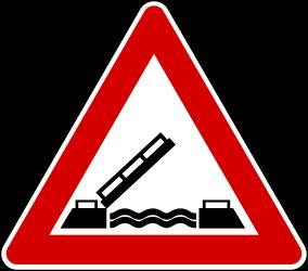 Traffic sign of Turkey: Warning for a movable <a href='/en/turkey/overview/bridge'>bridge</a>