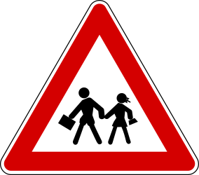 Traffic sign of Turkey: Warning for <a href='/en/turkey/overview/child'>children</a>